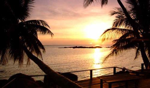 ดูตะวันลับขอบฟ้า หาดศรีธนู หาดเจ้าเภา หาดสน เกาะพะงัน สุราษฏร์ธานี