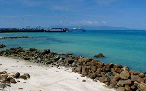 แหล่งท่องเที่ยว บริเวณหาดท้องศาลา เกาะพะงัน
