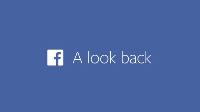 Facebook look-back