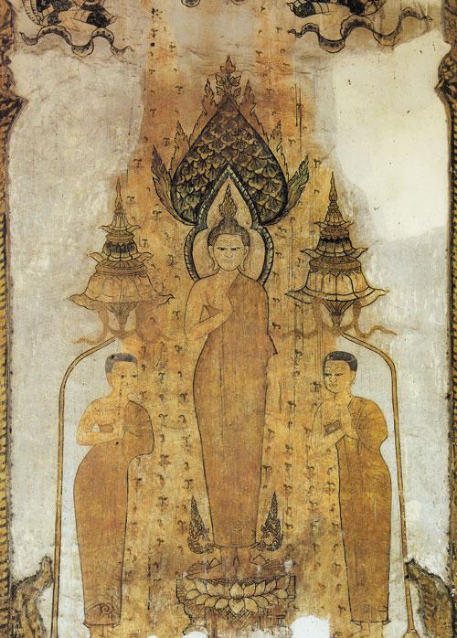 ภาพพระพุทธเจ้าหน้าอุโบสถวัดคงคาราม