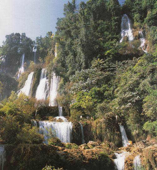 น้ำตกทีลอซู เขตรักษาพันธุ์สัตว์ป่าอุ้มผาง จังหวัดตาก