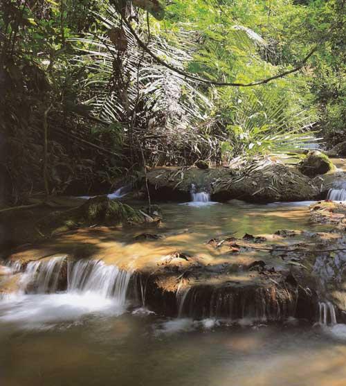 น้ำตกกระเต็งเจ็ง อุทยานแห่งชาติเขาแหลม จังหวัดกาญจนบุรี