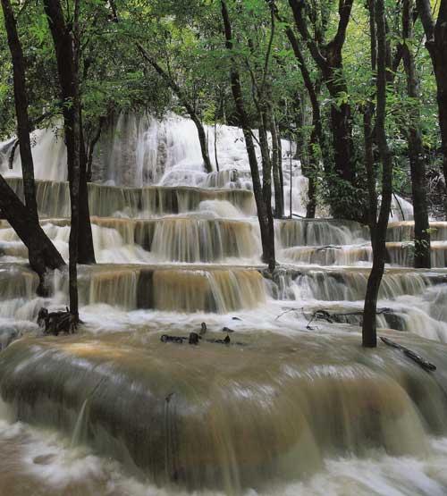 น้ำตกคลองตง เขตรักษาพันธุ์สัตว์ป่าเขาบรรทัด จังหวัดตรัง