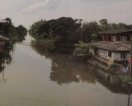 ตลาดน้ำไทรน้อย คลองพระพิมลราชา นนทบุรี