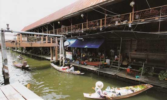 ตลาดน้ำเหล่าตั๊กลัก คลองลัดพลี ราชบุรี